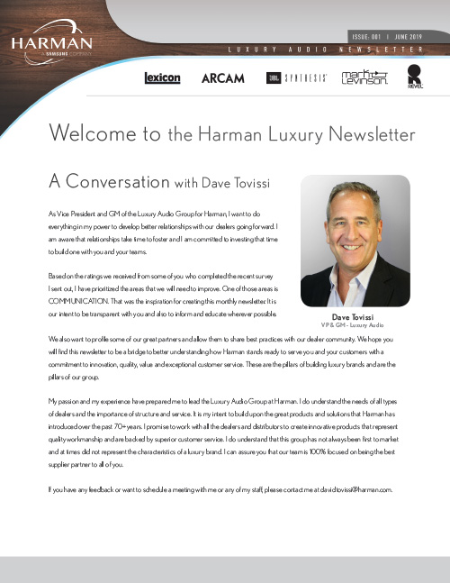 Harman Newsletter