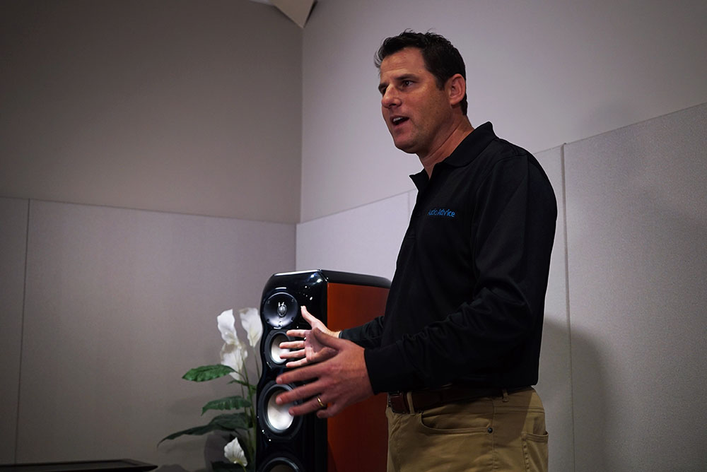 Audio Advice co-owner Scott Newnam