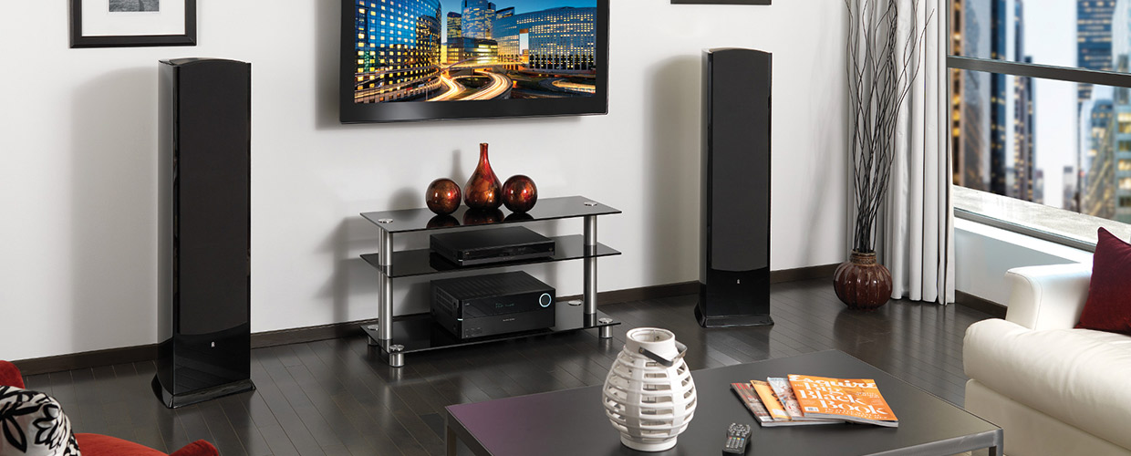 Revel F208 speakers black lifestyle web
