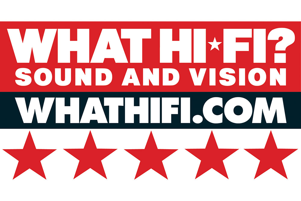 What Hi-Fi? 5-star graphic
