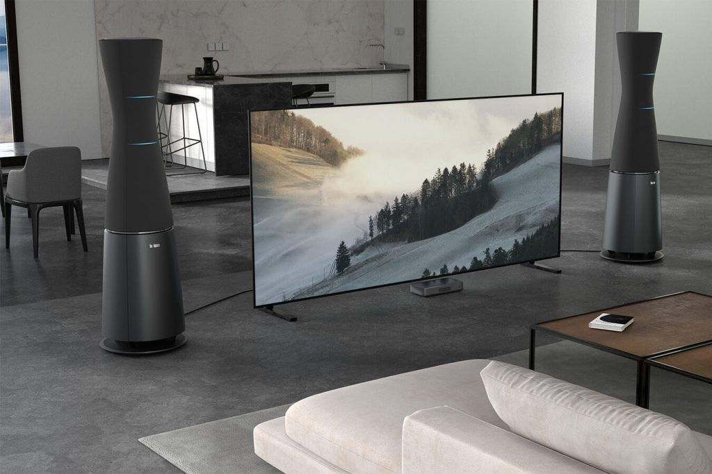 Lexicon SL-1 speakers lifestyle with TV