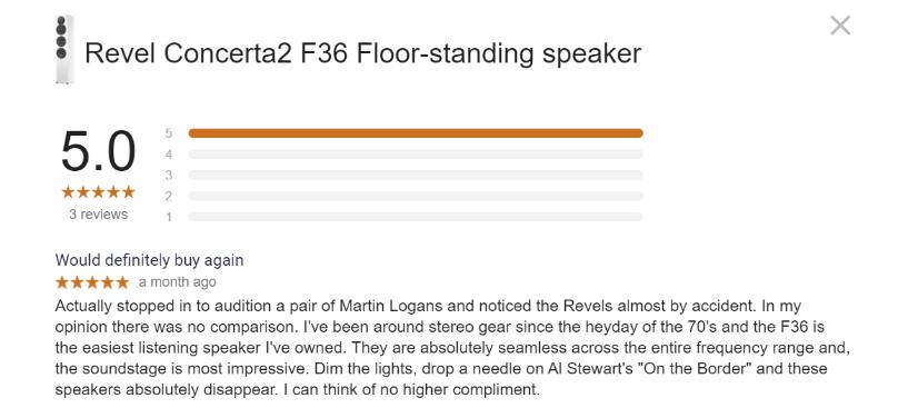 Revel F36 Review