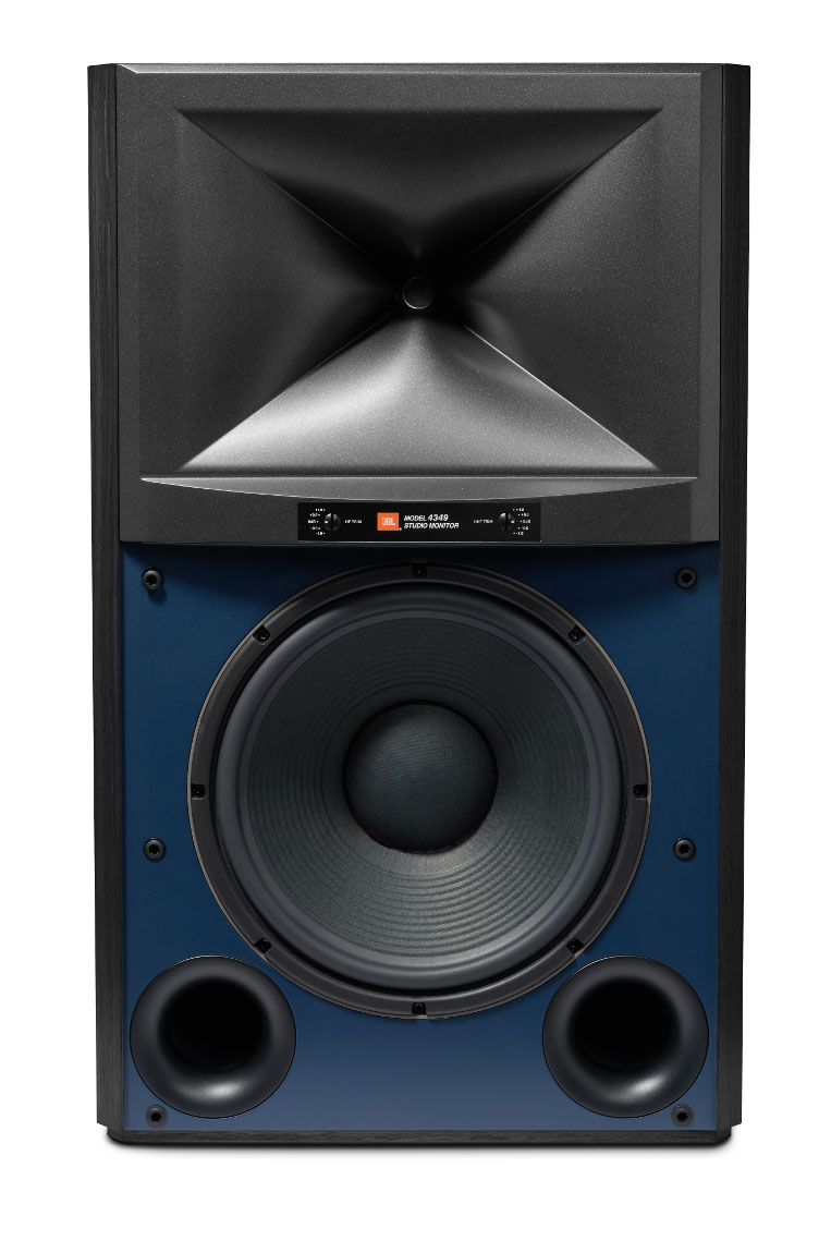 JBL 4349 Studio Monitor Black Front no grille