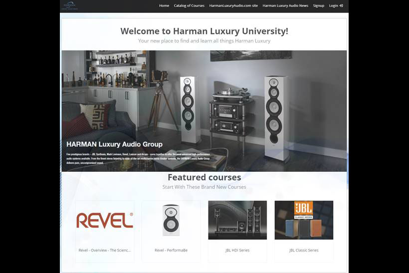 HARMAN Luxury University home page