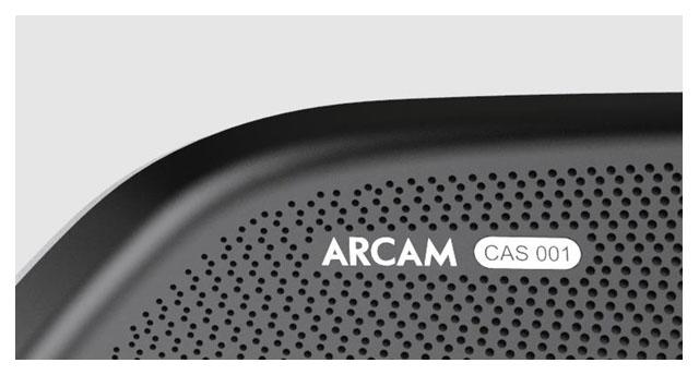 Arcam car audio nameplate