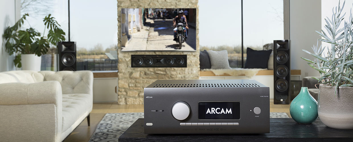 Arcam TV in background