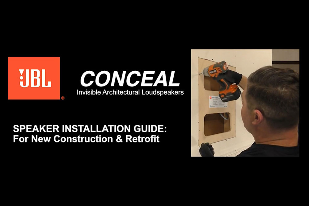 JBL Conceal Installation Video