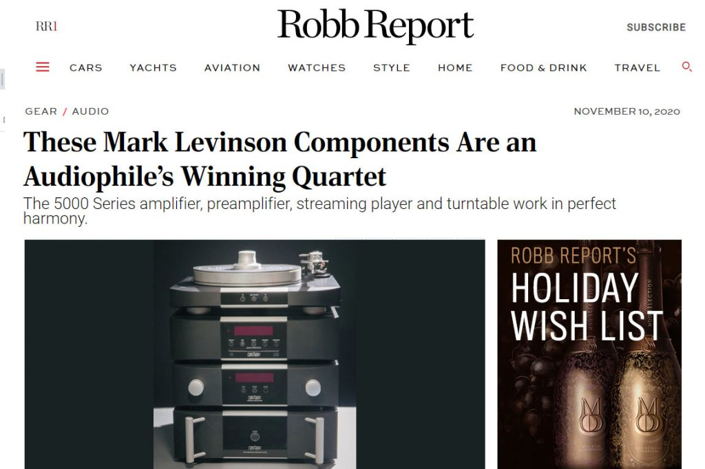Mark Levinson 500 Series in Robb Report