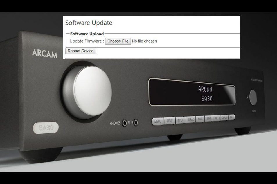 Arcam SA30 Software Update