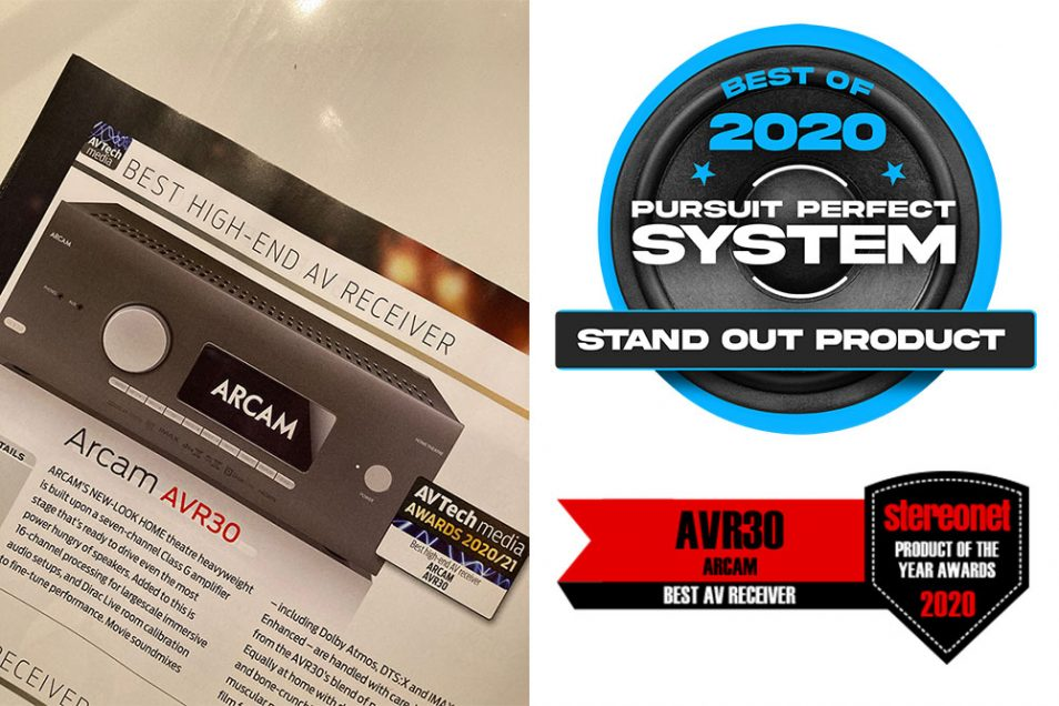 Arcam SA30 and AVR30 Awards