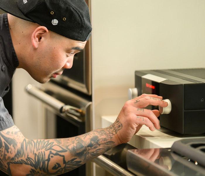 Mark Levinson Ambassador Program chef with amp