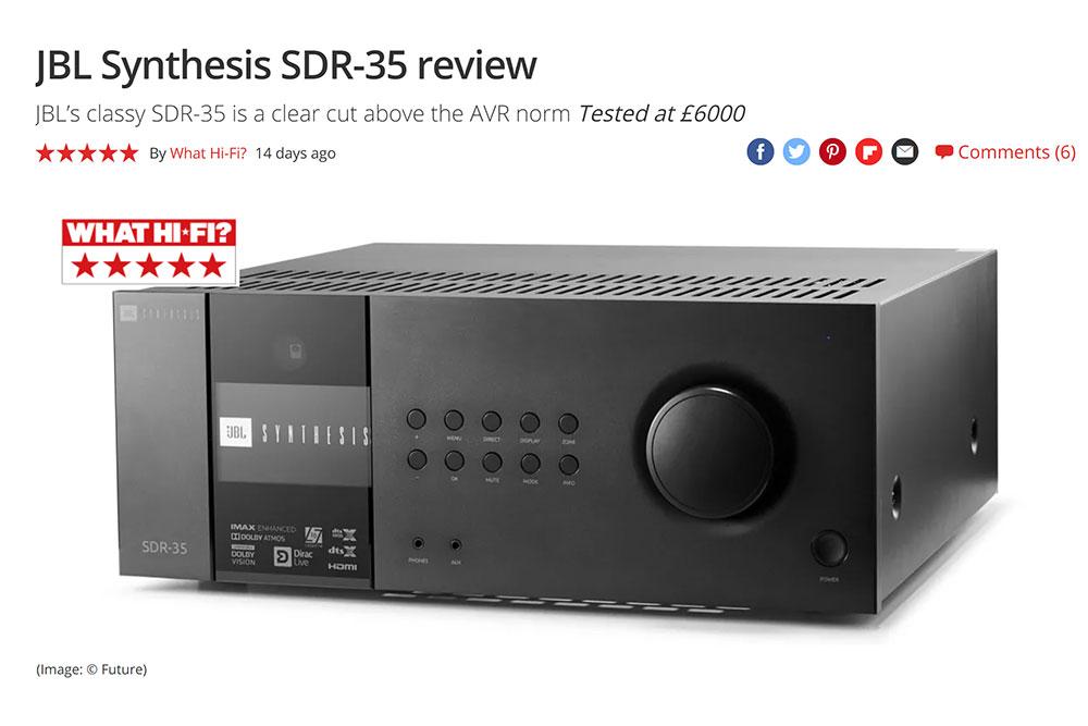 JBL Synthesis SDR-35 What Hi-Fi?